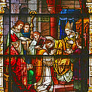 Consecration Of St Augustine Stained Glass Window Poster by Christine Till