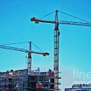 construction cranes HDR Poster by Antony McAulay