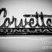 Corvette Sting Ray Emblem Poster by Paul Velgos