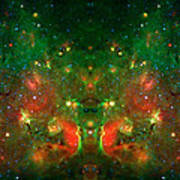 Cosmic Reflection 1 Poster by The  Vault - Jennifer Rondinelli Reilly