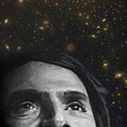 Cosmos- Carl Sagan Poster by Simon Kregar