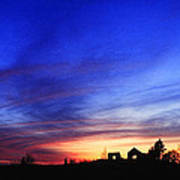 Country Sunset Poster by Wendell Thompson