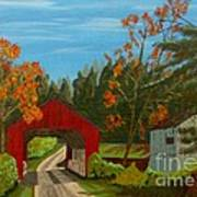 Covered Bridge Poster by Anthony Dunphy