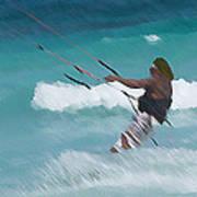 Cozumel Kiting Poster by Carol McCutcheon