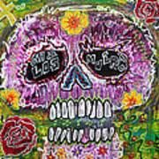 Craneo Rosado De Los Muertos Poster by Laura Barbosa