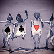 Crazy Aces Poster by Bob Orsillo