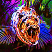 Creatures Of The Deep - Fear No Fish 5d24799 V2 Poster by Wingsdomain Art and Photography