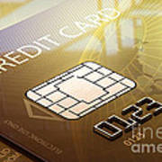 Credit Card Macro - 3d Graphic Poster by Johan Swanepoel