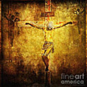 Crucified Via Dolorosa 12 Poster by Lianne Schneider