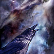 Cry Of The Raven Poster by Carol Cavalaris