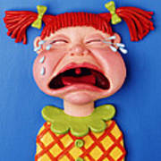 Crying Girl Poster by Amy Vangsgard