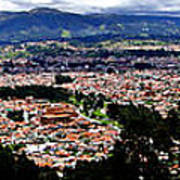 Cuenca And Turi Panorama Poster by Al Bourassa