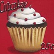 Cupcakes 25 Cents Poster by Catherine Holman