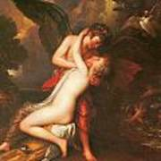 Cupid And Psyche Poster by Benjamin West