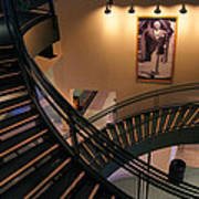 Curly's Stairway Poster by Bill Pevlor