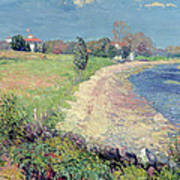 Curving Beach Poster by William James Glackens