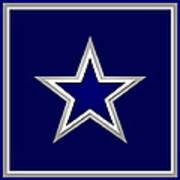 Dallas Cowboys Poster by Tony Rubino