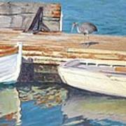 Dana Point Harbor Boats Poster by Sharon Weaver