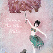 Dancing In The Rain Poster by Terry Fleckney
