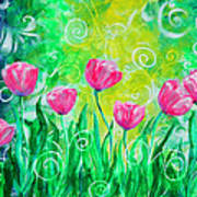 Dancing Tulips Poster by Jan Marvin