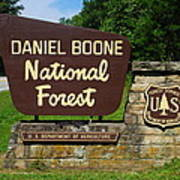 Daniel Boone Poster by Frozen in Time Fine Art Photography