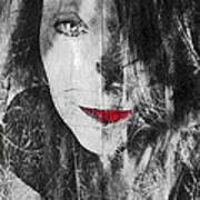 Dark Thoughts Poster by Linda Sannuti