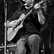 Dave Matthews On Guitar 9  Poster by The  Vault - Jennifer Rondinelli Reilly