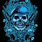 David Cook Studios Army Ranger Military Skull Art Poster by David Cook  Los Angeles Prints