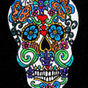 Day Of The Dead Skull Poster by Genevieve Esson