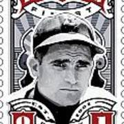 Dcla Bobby Doerr Fenway's Finest Stamp Art Poster by David Cook Los Angeles