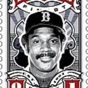 Dcla Jim Rice Fenway's Finest Stamp Art Poster by David Cook Los Angeles