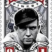 Dcla Tris Speaker Fenway's Finest Stamp Art Poster by David Cook Los Angeles