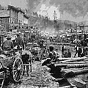 Deadwood South Dakota C. 1876 Poster by Daniel Hagerman