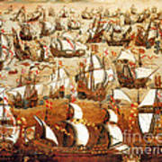 Defeat Of The Spanish Armada 1588 Poster by Photo Researchers