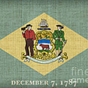 Delaware State Flag Poster by Pixel Chimp