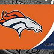 Denver Broncos Poster by Joe Hamilton