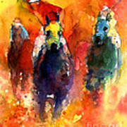 Derby Horse Race Racing Poster by Svetlana Novikova