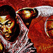 Derrick Rose Poster by Maria Arango
