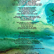 Desiderata 2 - Words Of Wisdom Poster by Sharon Cummings