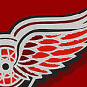 Detroit Red Wings Poster by Tony Rubino