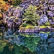 Diablo Lake Reflection Poster by Benjamin Yeager