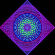 Diamond Swirl Poster by Sandy Keeton