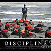 Discipline Inspirational Quote Poster by Stocktrek Images