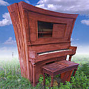 Distorted Upright Piano 2 Poster by Mike McGlothlen