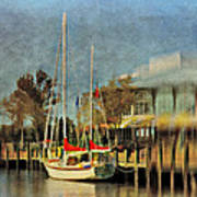 Docked Poster by Kathy Jennings