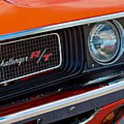 Dodge Challenger Rt Grille Emblem Poster by Jill Reger