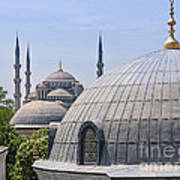 Domes Of Istanbul Poster by Lutz Baar