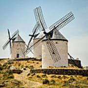 Don Quixote's Windmills Poster by Tetyana Kokhanets