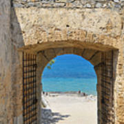 Door To Joy And Serenity - Beautiful Blue Water Is Waiting Poster by Matthias Hauser