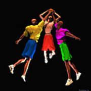 Double Teamed Poster by Walter Oliver Neal